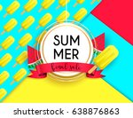 summer sale vivid layout design ... | Shutterstock .eps vector #638876863