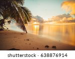 beautiful seychelles sunrise | Shutterstock . vector #638876914