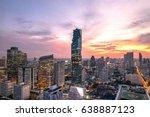 cityscape of bangkok city at... | Shutterstock . vector #638887123