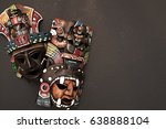 Set Of Two Mexican Mayan Aztec...