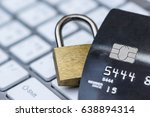 credit card data security... | Shutterstock . vector #638894314