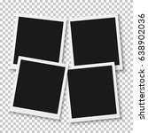 illustration of instant photo.... | Shutterstock . vector #638902036