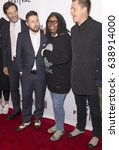 Small photo of NEW YORK, NY - APRIL 22, 2017: (L-R) Alain Delannoy, Dmitry Milkin, Whoopi Goldberg and Brandon Oldenburg attend Animated Shorts curated by Whoopi Goldberg during the 2017 Tribeca Film Festival