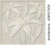 3d flowers   lilies  paper... | Shutterstock . vector #638917624
