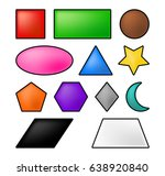 geometric shapes square  circle ... | Shutterstock .eps vector #638920840