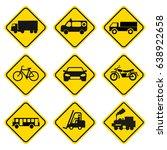 road sign set | Shutterstock .eps vector #638922658