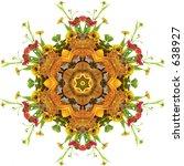 Autumn Floral Mandala With...