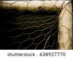 football or soccer goal post... | Shutterstock . vector #638927770