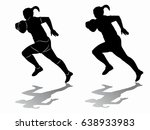silhouette of a rugby player ... | Shutterstock .eps vector #638933983