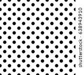 seamless polka dot pattern.... | Shutterstock .eps vector #638943910