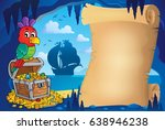 parchment in pirate cave image... | Shutterstock .eps vector #638946238