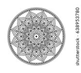 mandala. ethnic round ornament. ... | Shutterstock .eps vector #638953780