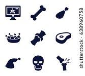 bone icons set. set of 9 bone... | Shutterstock .eps vector #638960758