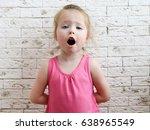 little girl sings in the... | Shutterstock . vector #638965549