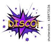 vector retro pop art style boom ... | Shutterstock .eps vector #638973136
