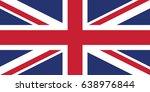 united kingdom national flag.... | Shutterstock .eps vector #638976844