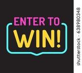 enter to win. badge flat vector ... | Shutterstock .eps vector #638980348
