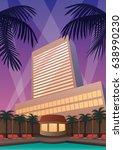 hotel and casino resort in art...   Shutterstock .eps vector #638990230