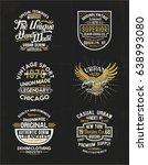 vintage concept print designs... | Shutterstock .eps vector #638993080