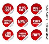 illustration of red round... | Shutterstock .eps vector #638994043