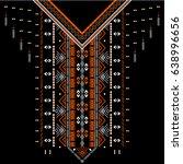 textile design for collar... | Shutterstock .eps vector #638996656