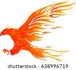 phoenix bird vibrant flame