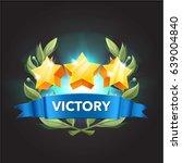 game victory stars  cartoon... | Shutterstock .eps vector #639004840