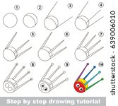 kid game to develop drawing... | Shutterstock .eps vector #639006010