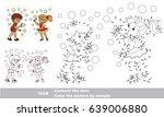 summer outdoor games   boy and... | Shutterstock .eps vector #639006880