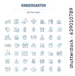 vector graphic set. icons in... | Shutterstock .eps vector #639010789