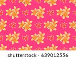 modern motley floral seamless... | Shutterstock . vector #639012556