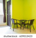 green color wall in modern room ... | Shutterstock . vector #639013423