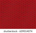 background of brick wall  red... | Shutterstock .eps vector #639014074