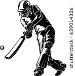 cricket low swing shadow | Shutterstock .eps vector #639014326