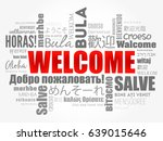welcome word cloud in different ... | Shutterstock .eps vector #639015646