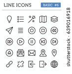 vector line icons for...