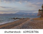 sunset on the sea and the... | Shutterstock . vector #639028786