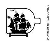 ship in a bottle | Shutterstock .eps vector #639029878