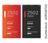 step counter pedometer app ui...