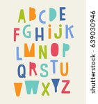 colorful cute uppercase... | Shutterstock .eps vector #639030946