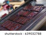 vintage  wooden antique... | Shutterstock . vector #639032788
