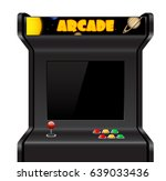 arcade machine isolated on... | Shutterstock .eps vector #639033436