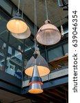 modern ceiling lamp interior... | Shutterstock . vector #639046354