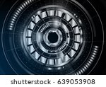 technological abstract metallic ... | Shutterstock .eps vector #639053908