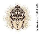 vector hand drawn face buddha ...   Shutterstock .eps vector #639056020