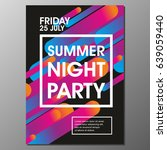 modern style abstraction summer ... | Shutterstock .eps vector #639059440