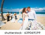 Beautiful Wedding Couple Bride...