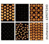 set of romantic sparkle... | Shutterstock .eps vector #639075340