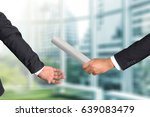cropped hand of businessman... | Shutterstock . vector #639083479