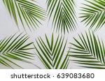 ornamental palm leaves for... | Shutterstock . vector #639083680